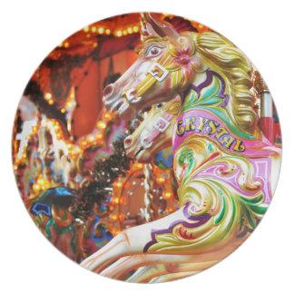 Carousel horse plate