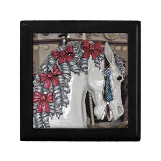 Carousel horse print gift box