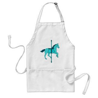 Carousel Horse - Turquoise and Aqua Standard Apron