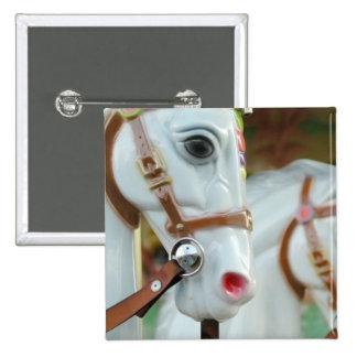 Carousel Horses Button
