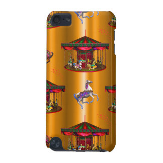 Carousel Horses on Gold iPod Touch 5G Cover