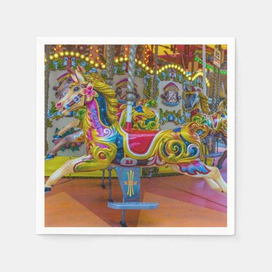 Carousel horses paper serviettes