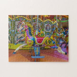 Carousel horses photo puzzle