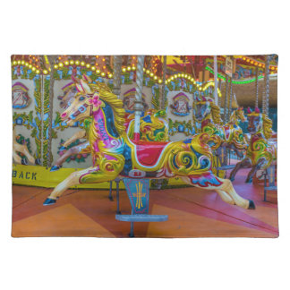 Carousel horses placemat