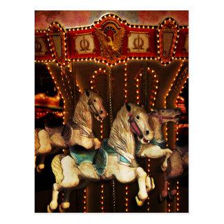 Carousel Horses Postcards