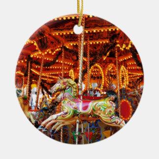 Carousel hose design christmas ornament