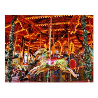 Carousel hose design postcard