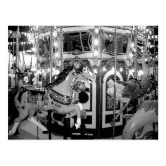 Carousel in Monochrome Postcard
