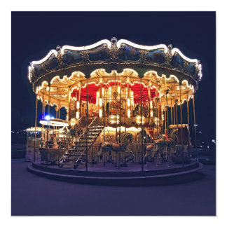 Carousel in Paris 13 Cm X 13 Cm Square Invitation Card