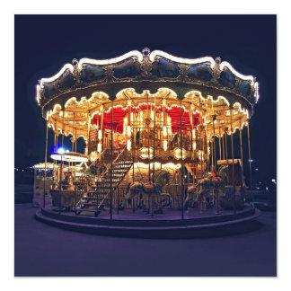 Carousel in Paris 13 Cm X 13 Cm Square Invitation Card