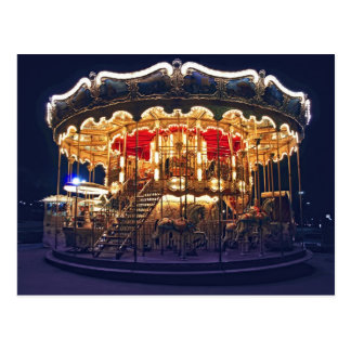 Carousel in Paris Postcard