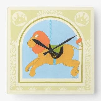 Carousel Lion by June Erica Vess Clocks