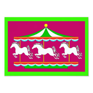 Carousel Merry-Go-Round Party Birthday INVITATIONS