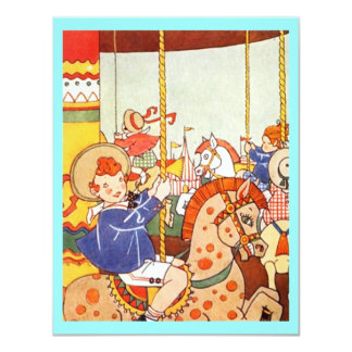 "Carousel Merry-Go-Round Party Birthday INVITATIONS 4.25"" X 5.5"" Invitation Card"