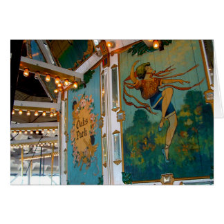 Carousel ~ Oaks Park, Portland Oregon Note Card
