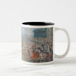 Carousel of Amazons in 1682 Two-Tone Coffee Mug