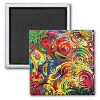 Carousel of Colors Square Magnet