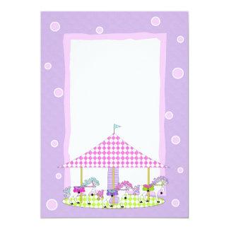 Carousel of Horses Invitations - Purple