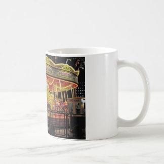 carousel on thames at night coffee mug