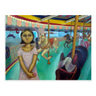 Carousel - Original Painting by Lora Shelley Postcard