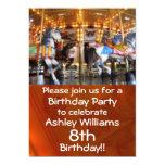 Carousel Party Invitation 13 Cm X 18 Cm Invitation Card