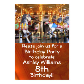 Carousel Party Invitation