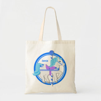 Carousel Pony Blue with Stars