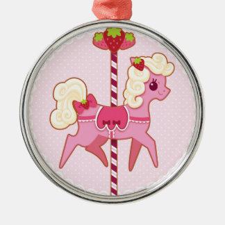 Carousel Pony – Strawberries and Cream Ornament
