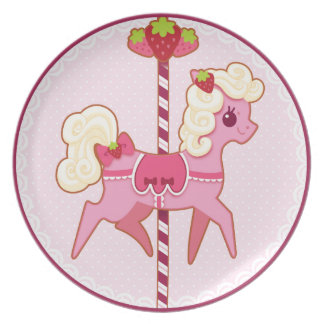 Carousel Pony – Strawberries and Cream Dinner Plate