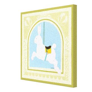 Carousel Rabbit by June Erica Vess Canvas Print