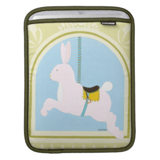 Carousel Rabbit by June Erica Vess iPad Sleeves
