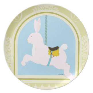 Carousel Rabbit by June Erica Vess Party Plates