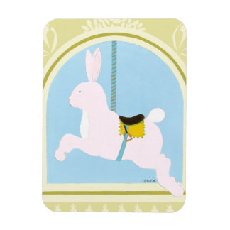 Carousel Rabbit by June Erica Vess Rectangular Photo Magnet