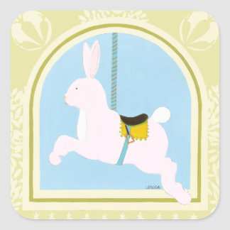 Carousel Rabbit by June Erica Vess Square Sticker