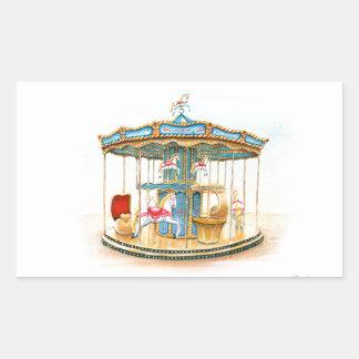 'Carousel' Rectangular Sticker