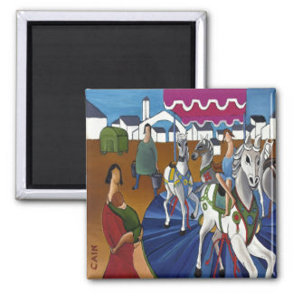CAROUSEL SQUARE MAGNET