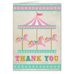 Carousel Thank You Note Card