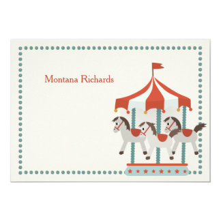 Carousel Thank You Notecard 13 Cm X 18 Cm Invitation Card