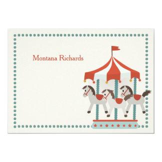 Carousel Thank You Notecard 13 Cm X 18 Cm Invitation Card