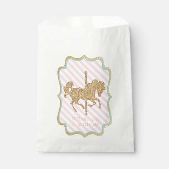 Carousel Themed Favour Bags