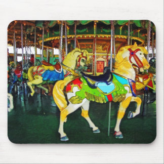 Carousel Under the Clock Mouse Pad