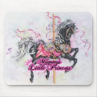 Carousel Unicorn Princess Mouse Mat