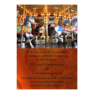 Carousel Wedding Invitation
