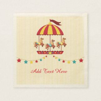 Carousel with Star Bunting Paper Serviettes