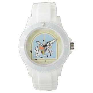 Carousel Zebra by June Erica Vess Wristwatch