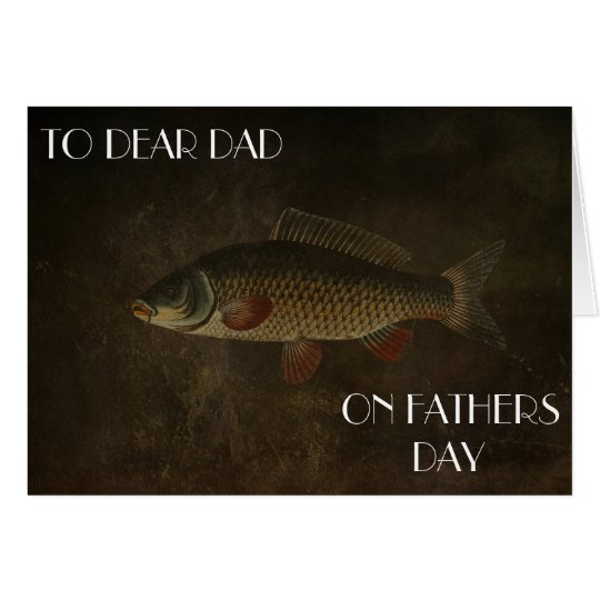 CARP FATHERS DAY GREETING CARD