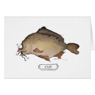 Carp fish, tony fernandes card