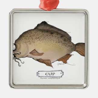 Carp fish, tony fernandes christmas ornament