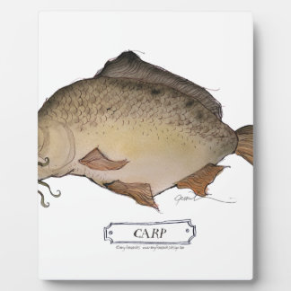 Carp fish, tony fernandes plaque