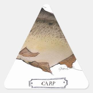 Carp fish, tony fernandes sticker